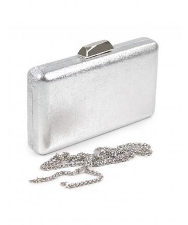 Pochete Prata de Senhora Metalizada