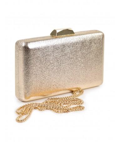Pochete Dourada de Senhora Metalizada