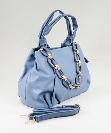 Mala Azul de Senhora com Corrente Decorativa