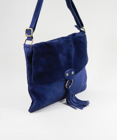 Mala Azul de Senhora com Berloque