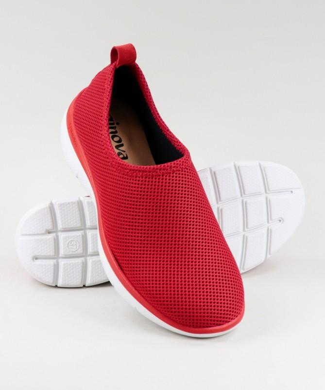 Sapatos Vermelhos de Senhora Ginova Práticos