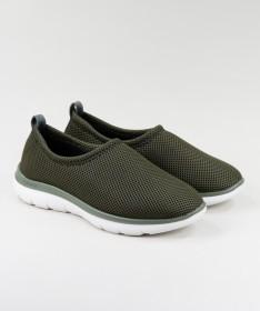 Sapatos Verdes de Senhora Ginova Práticos