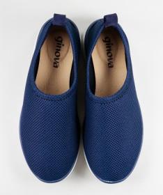 Sapatos Azuis de Senhora Ginova Práticos
