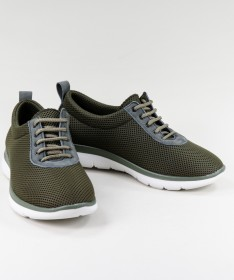 Sapatos Verdes de Senhora Ginova de Atacadores