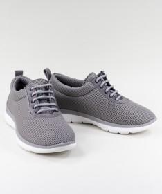 Sapatos Cinza de Senhora Ginova de Atacadores