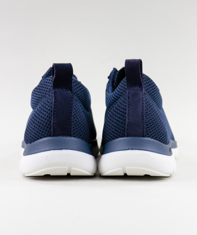 Sapatos Azuis de Senhora Ginova de Atacadores