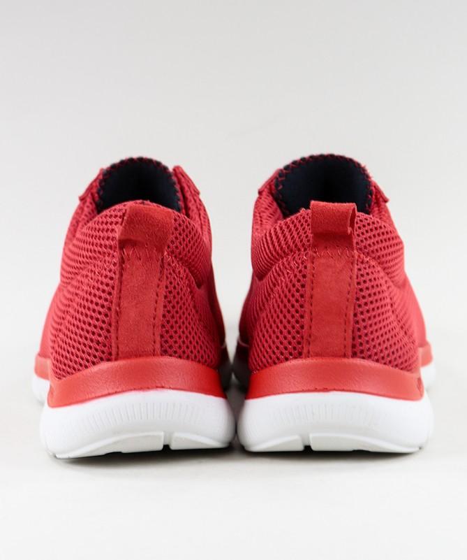 Sapatos Vermelhos de Senhora Ginova de Atacadores