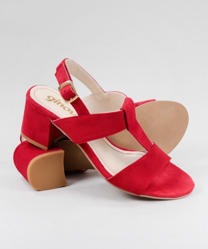 Sandálias de Senhora Ginova de Tacão Médio