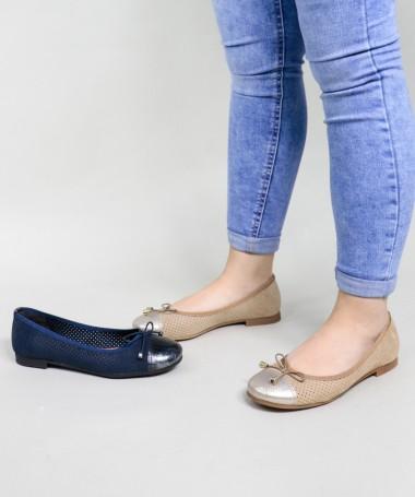 Sapatos de Senhora Rasos Perfurados