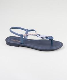 Sandálias Grendha Azuis com Tira Decorada