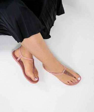 Sandálias Ipanema Rosa de Senhora com Glitter