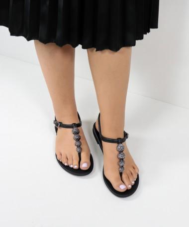 Sandálias Grendha Pretas com Brilhantes
