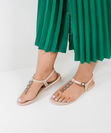 Sandálias Grendha Rosa com Brilhantes