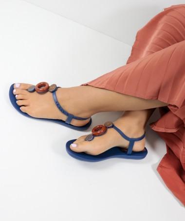 Sandálias Ipanema Azuis com Aplicações