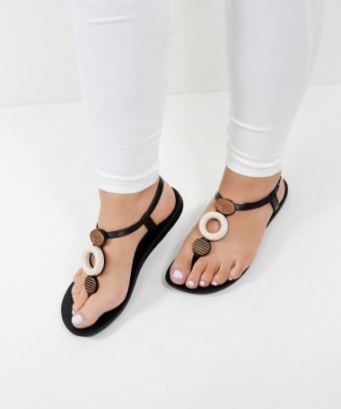 Sandálias Ipanema Pretas com Aplicações
