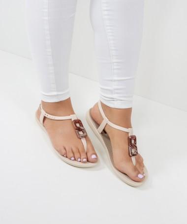 Sandálias Ipanema Bege com Aplicação