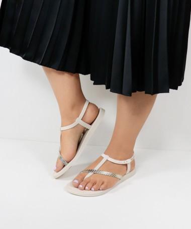 Sandálias Ipanema Bege com Tiras
