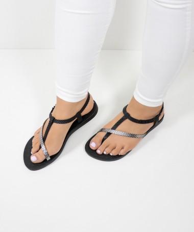 Sandálias Ipanema Pretas com Tiras