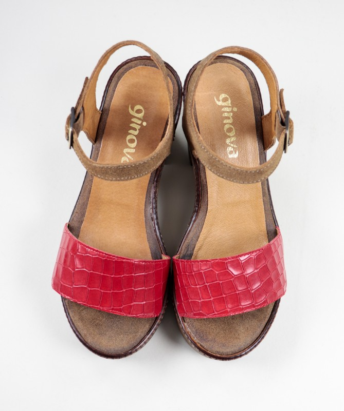 Sandálias de Senhora Ginova com Tira Gravada