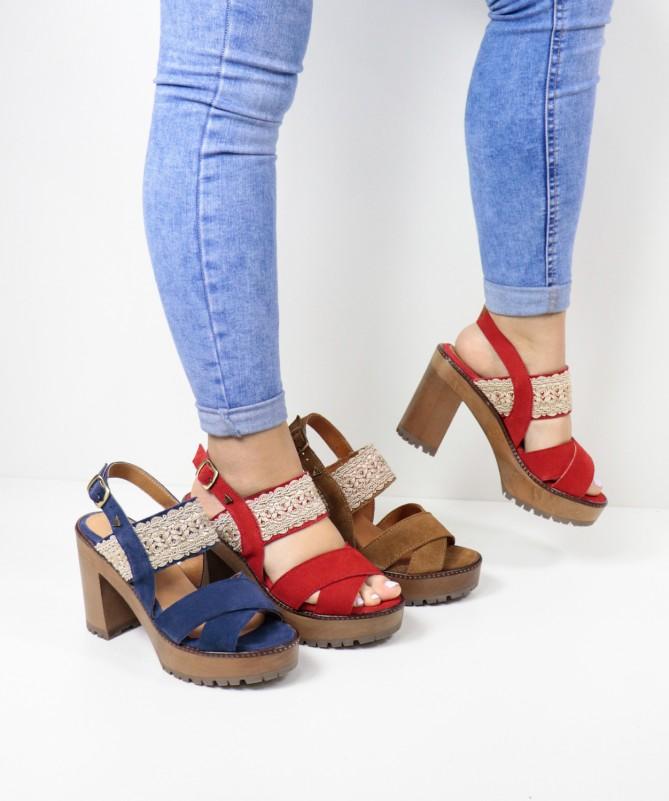 Sandálias de Senhora Ginova com Renda