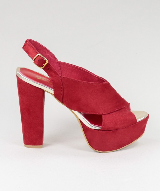 Sandálias Vermelhas Femininas Ginova Cruzadas à Frente