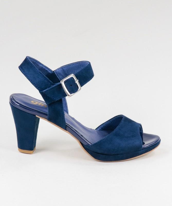 Sandálias Azuis de Senhora Ginova com Fivela