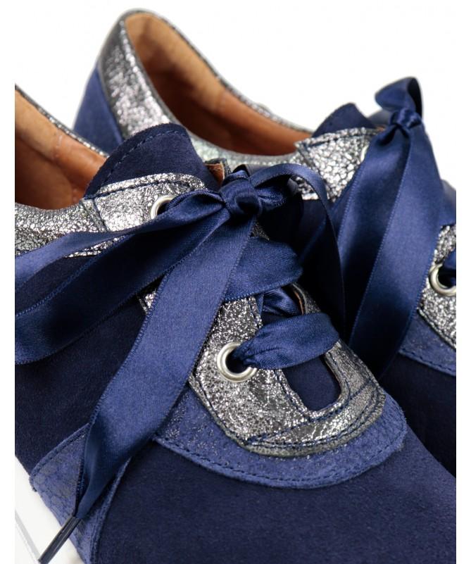 Sapatilhas Azuis de Senhora Ginova Confortáveis