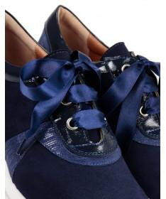 Sapatilhas Azuis de Senhora Ginova de Atacadores