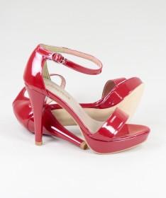 Sandálias Vermelhas Elegantes de Senhora Ginova
