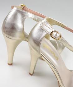 Sandálias Douradas Elegantes de Senhora Ginova