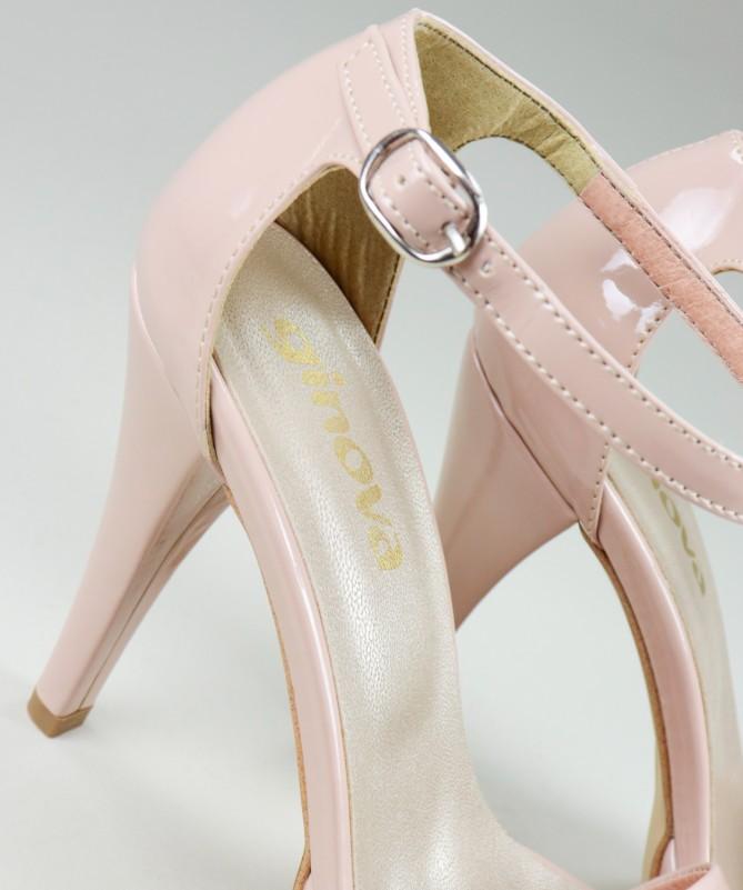 Sandálias Nude Elegantes de Senhora Ginova