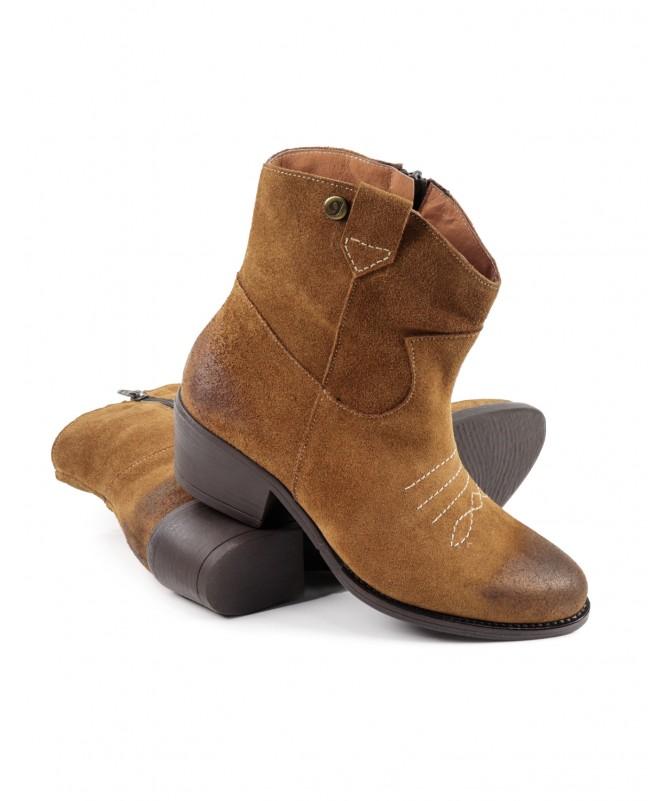 Botas Camel Texanas de Mulher Ginova