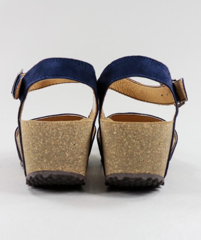 Sandálias Azuis de Senhora Ginova com Tira de Apertar