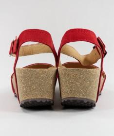 Sandálias Vermelhas de Senhora Ginova com Tira de Apertar