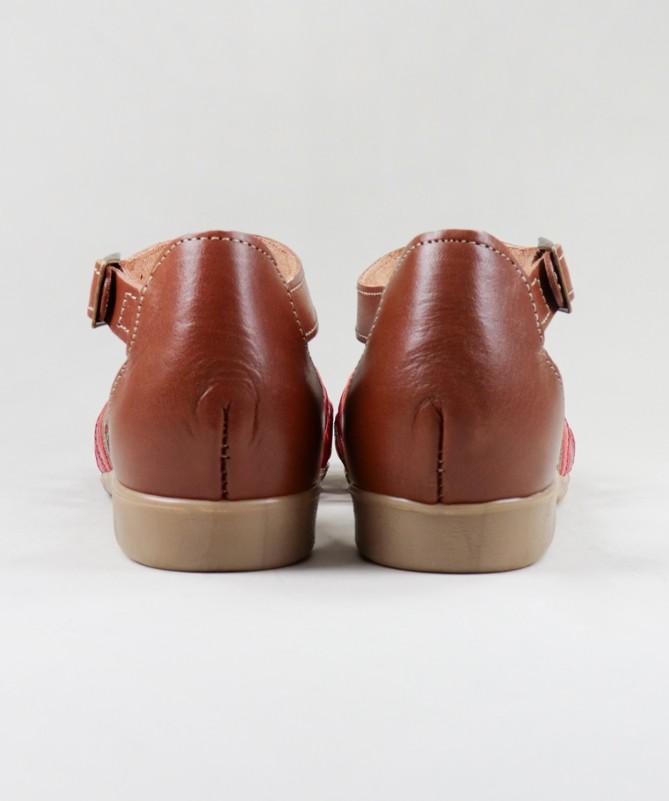 Sandálias de Senhora Ginova em Pele