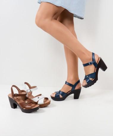 Sandálias de Senhora Ginova com Tiras Cruzadas