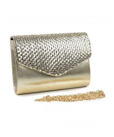 Pochete de Senhora Dourada com Brilho
