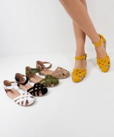 Sandálias de Senhora Ginova em Camurça