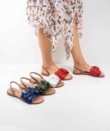 Sandálias Rasas de Senhora Ginova com Laço