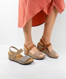 Sandálias Ginova de Cunha com Elástico