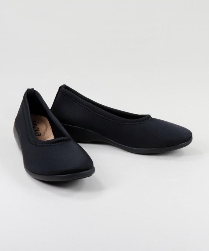 Sapatos Preto Ortopédicos Elásticos Ginova