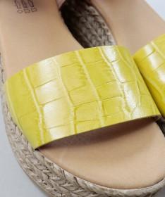 Sandálias Amarelo de Senhora Ginova Compensadas