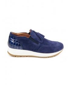 Sapatilhas Azul de Mulher Ginova com Berloque
