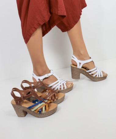 Sandálias de Senhora Ginova Abertas à Frente