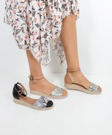 Sandálias de Senhora Ginova em Cobra