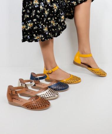 Sandálias de Senhora Ginova Perfuradas