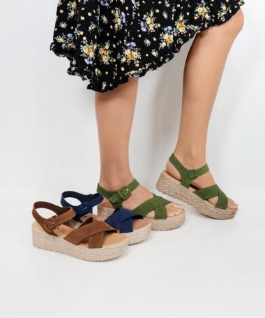 Sandálias de Senhora Ginova de Tiras Cruzadas