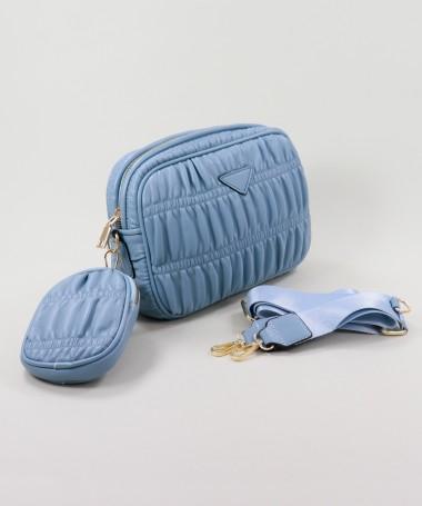 Mala Azul de Senhora com Bolsa Removível