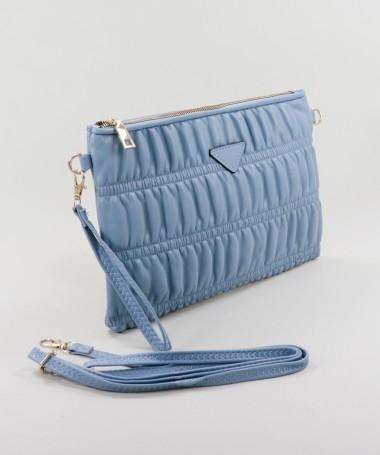 Clutch Feminina Azul com Alça Removível