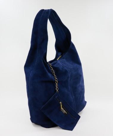 Mala Azul de Senhora com Bolsa